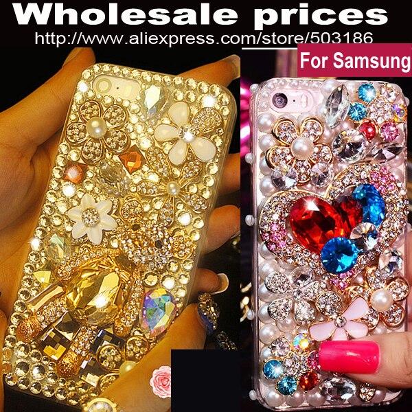 bilder für Schöne luxus Bär Diamant Strass fall-abdeckung Für Samsung Galaxy J1 mini J2 J3 J5 J7 2015 2016 2017 Prime C5 C7 C9 Pro