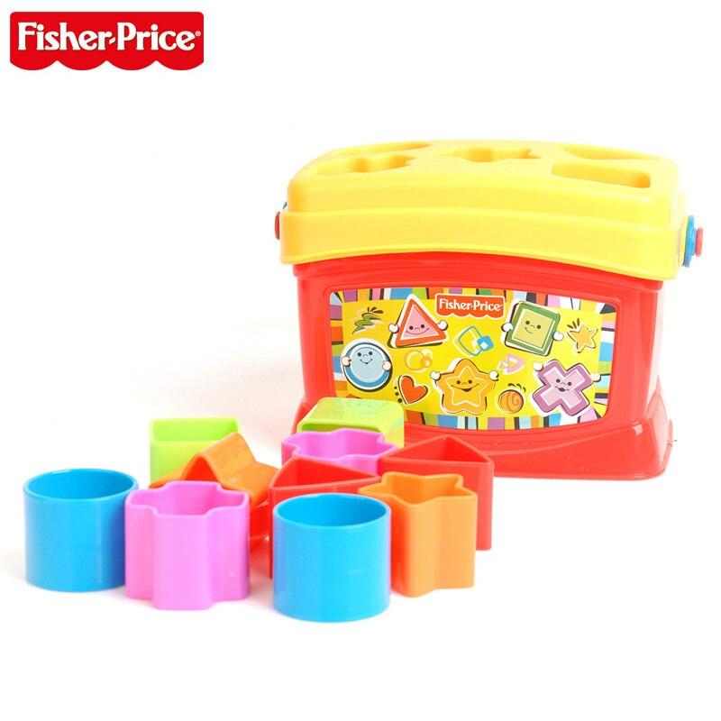 Fisher-price bases brillantes Babys premiers blocs enfant jouets drôles Pierwsze Klocki Malucha K7167 pour enfant cadeau d'anniversaire