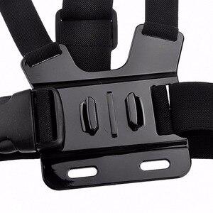 Image 3 - Peito ajustável corpo arnês acessórios correia de montagem para gopro hero 5 suporte todos os esportes ação câmera vefly esporte