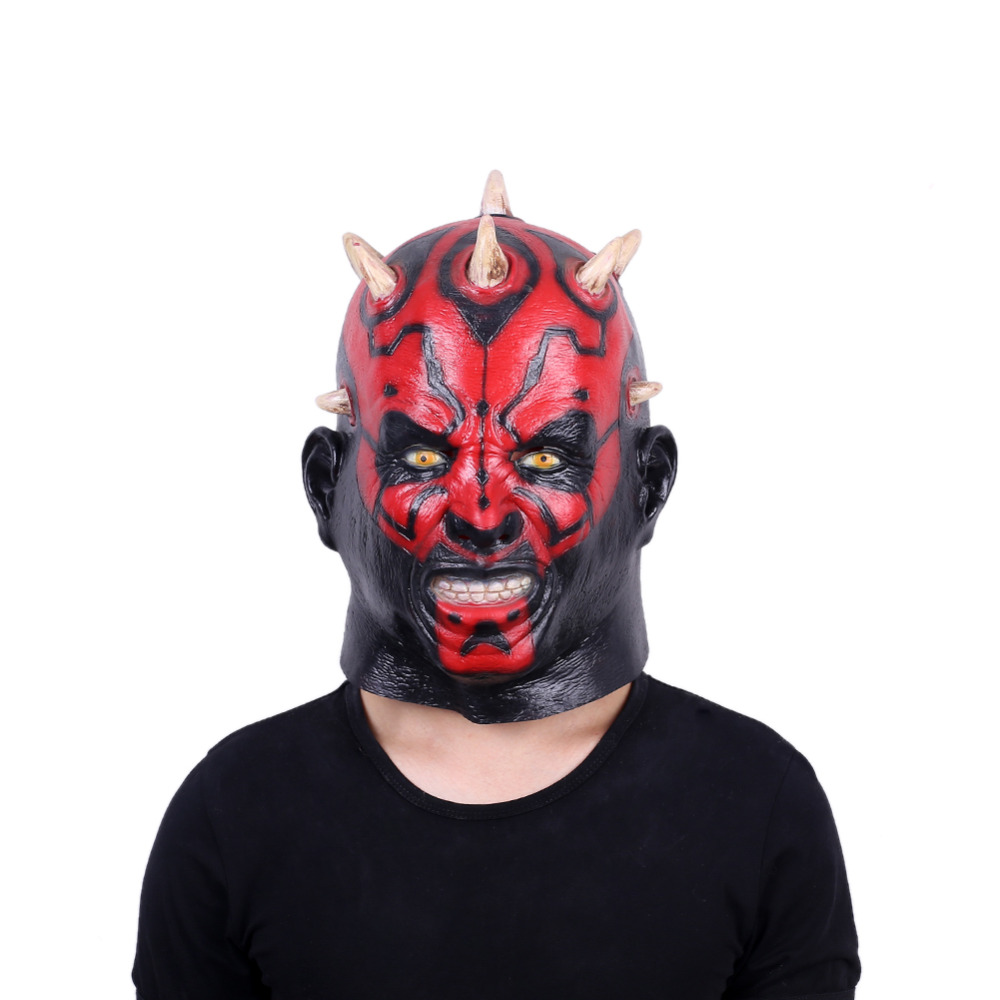 Image 2 - Darth Maul Mask Halloween Masquerade Masks Party Cosplay Movie Star Wars Mascara Latex Realista Masque Devil Horror Carnaval-in Party Masks from Home & Garden