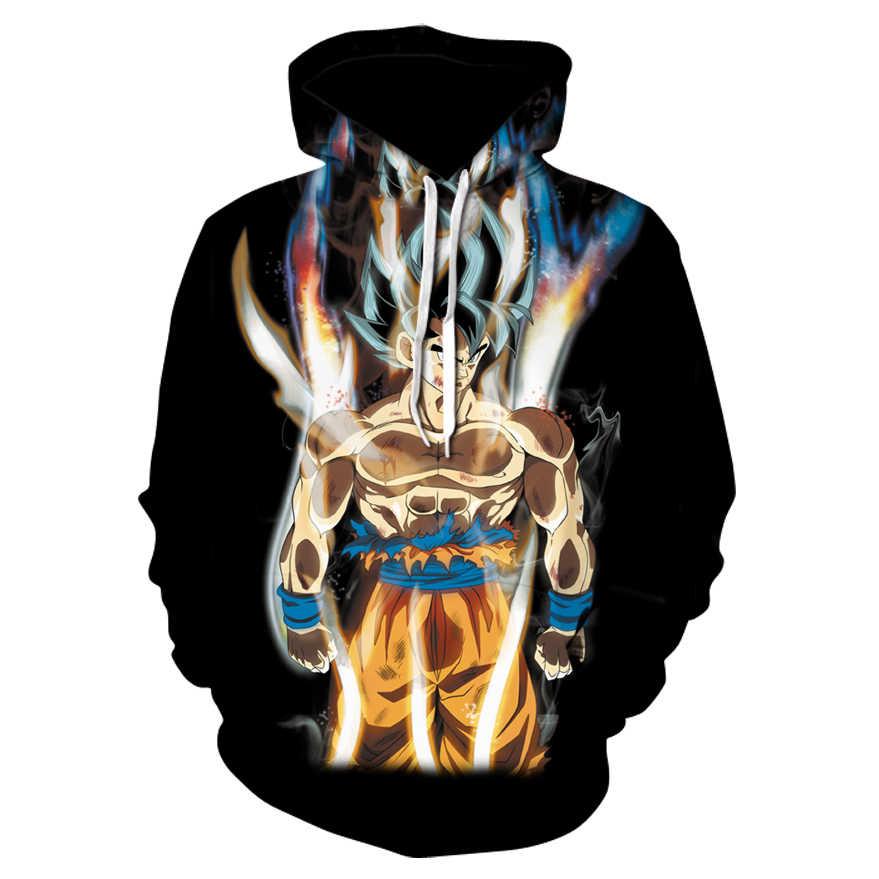 Хит продаж; аниме «Драконий жемчуг толстовки Для мужчин Для женщин 3D кофты Супер Saiya Вегета Дети Гоку балахон мужской Повседневное пальто с героями мультфильмов, верхняя одежда для мальчиков