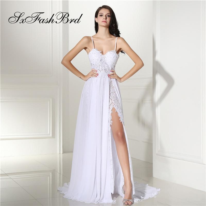 Robe Longue Sweetheart Spaghetti Strap A Line Split Long Formal Elegant   Dresses   for Women Evening Party   Prom     Dress