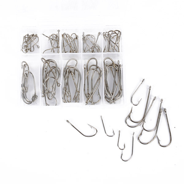 Image 2 - 100 pcs Hot Sales Sea Fly Fishing Hooks Tackle Set With Box 10 Size Fresh Water Hot Selling Wholesale-in Fishhooks from Sports & Entertainment