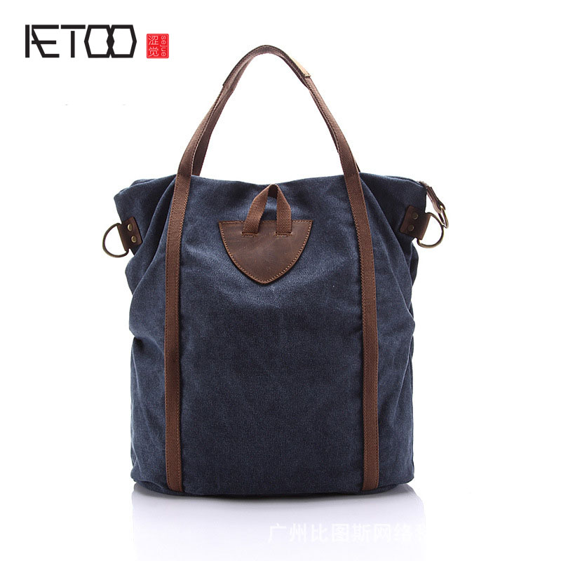 AETOO Canvas shoulder bag fashion handbags Korean version of the 2014 new women s casual bag