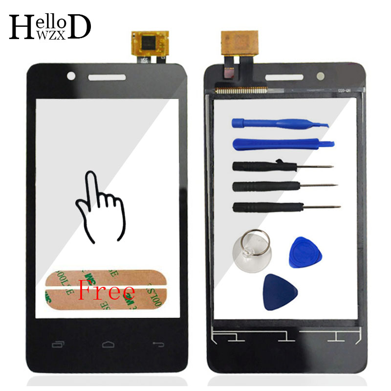 Touch Screen For Fly IQ436i ERA Nano 9 IQ 436i Touch Screen Digitizer Front Glass Capacitive Sensor Parts Tools Free Adhesive