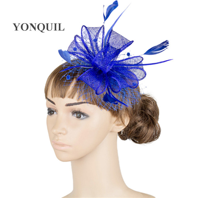 900f217b844 Free shipping 17 color high quality fascinators nice wedding accessories sinamay  fascinator hats event occasion headwear MYQ015