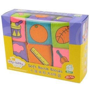 Candice guo! Brinquedos do bebê colorido de frutas digitais blocos chocalho macios um conjunto