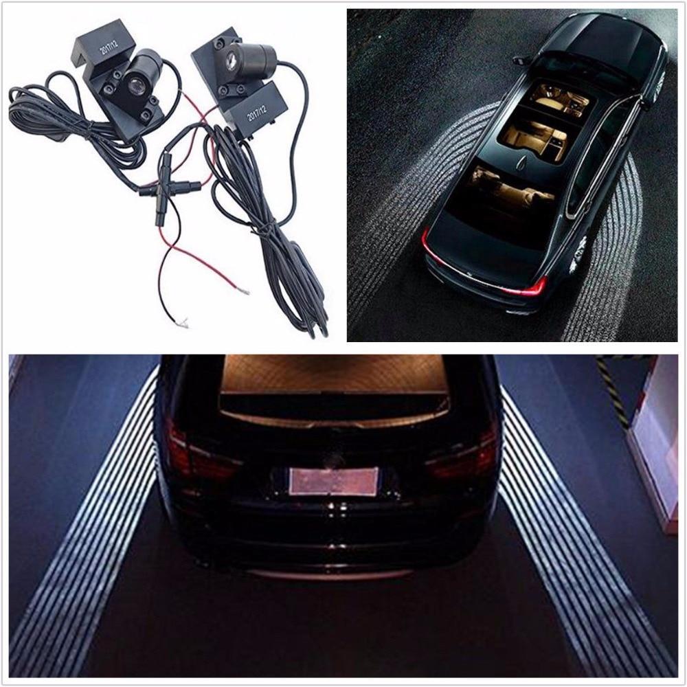 Universel type voiture LED bienvenue fantôme ombre courtoisie ange aile projecteur lampe