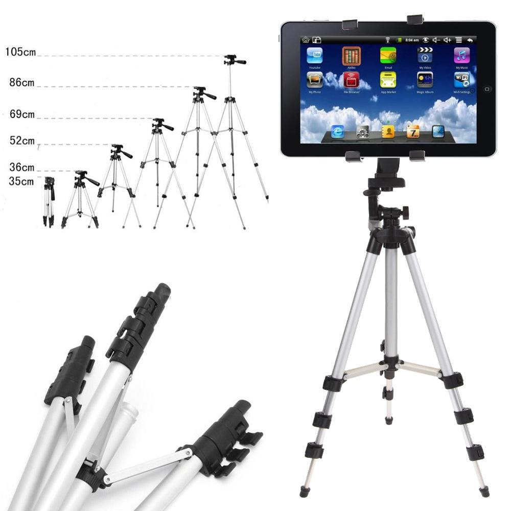 Stand Mount Holder+Adjustable Foldable Tripod For iPad 2 3 4 Mini For Ipad Air 2 Tablet PC