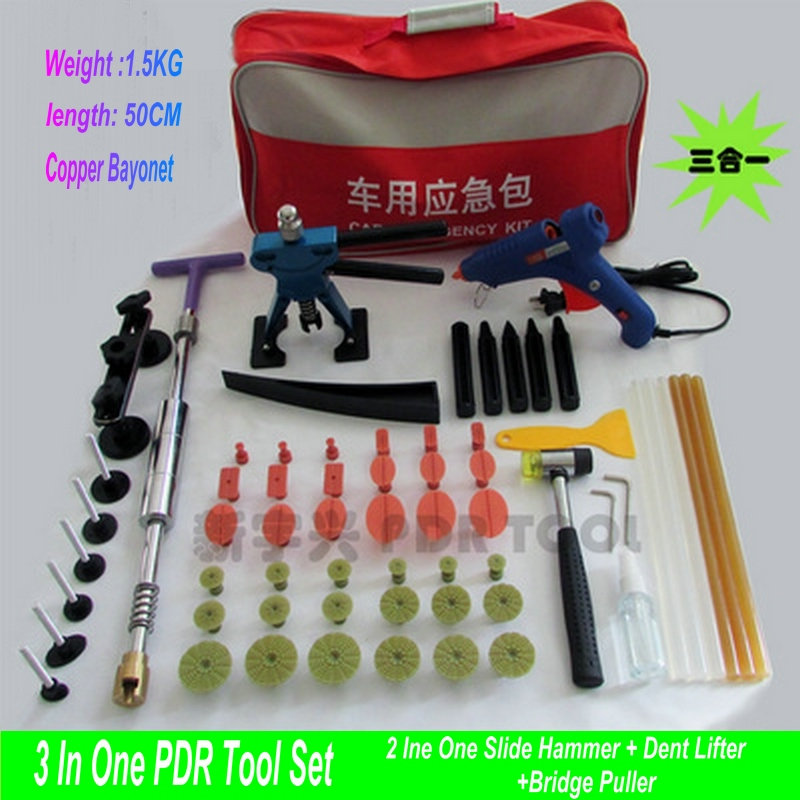 Heavy Knight PDR Tools Kit Paintless Dent Repair Tools Set Car Dent Repair Tool Set Dent Puller Set Tools Bag PDR Tabs цены