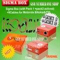 O 2016 mais recente versão sigma box com 9 cabos com Pack 1 Pack + 2 ativação