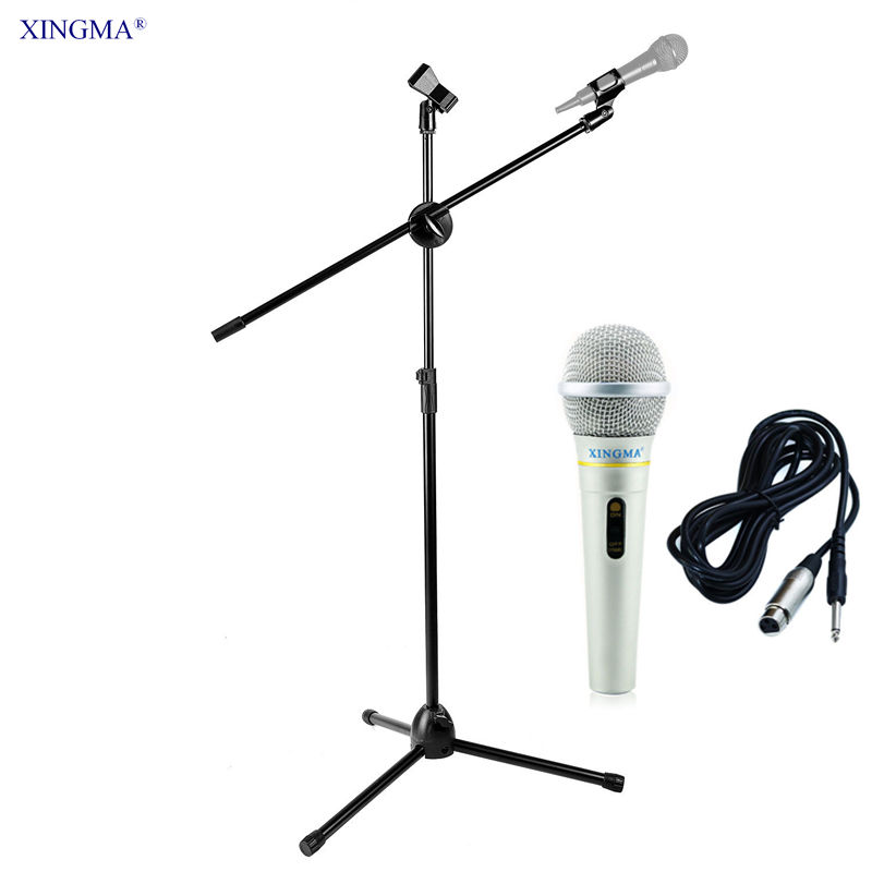 AK 319 Handheld Microphone With NB107 Tripod Microphone Stand Metal professional Dynamic Wired Microphone For Karaoke Studio KTV