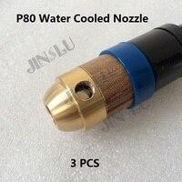 3PCS P 80 P80 Water Cooled Cooling Adpater Kit CNC Auto Cutting Machine Plasma Torch Straight