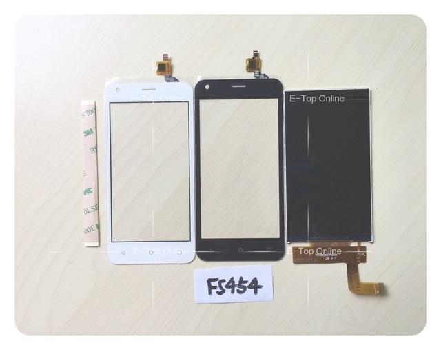 Display lcd de tela para a mosca fs454 nimbus 8 tela lcd touch screen digitador tela do sensor + 3 m adesivo: rastreamento gratuito
