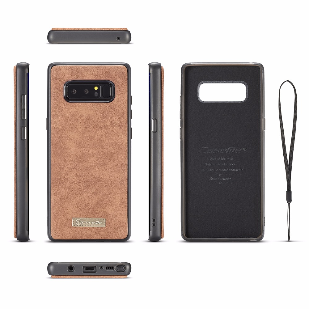 Note8 Magnetic Case For Samsung Note 8 Wallet Case Bag CaseMe Luxury Phone Case Flip Leather Cover For Galaxy Note 8 Cover in Wallet Cases from Cellphones Telecommunications
