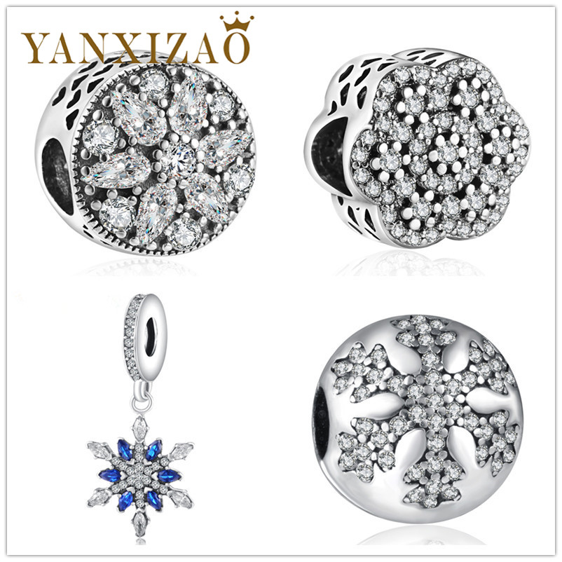 Yanxizao Fashion Silver 925 European Cz Charm Beads Fit Pandora Style Bracelet Pendant Necklace Diy Jewelry Originals Luxurious Beads & Jewelry Making Jewelry & Accessories