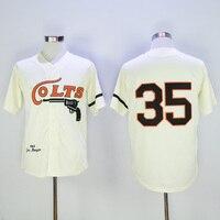Mens retro 1964 JOE MORGAN cosido nombre y número Houston Colts jersey de la vuelta del béisbol tamaño M-3XL