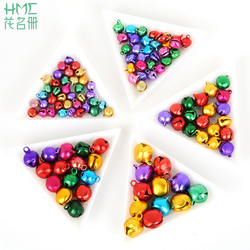 6mm 8mm 10mm 12mm 14mm Mix Colour Jingle Bells Aluminum Small Christmas bells DIY Gift Gift Wrapping Party Decoration Material