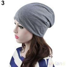 Fashion Women's Men's Winter Solid  Baggy Hat Slouch Crochet Knit Hip-Hop Beanie Ski Hat Cap