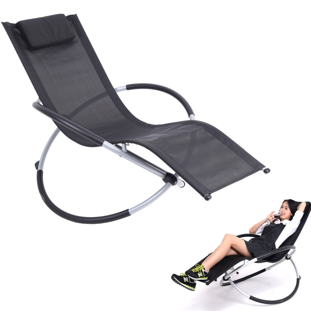 Ship From Germany Garden Chaise Lounge Rocking Chair