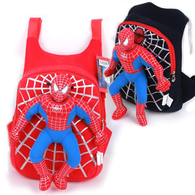 2017 new children baby cute 3D Spiderman font b backpack b font schoolbag for boys girls
