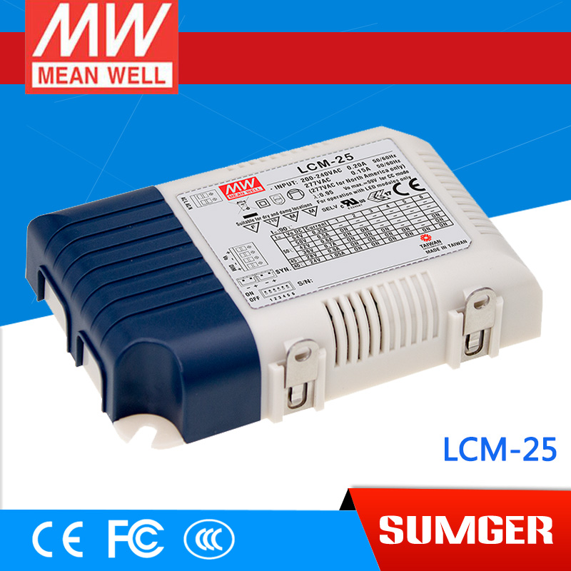[Sumger2] MEAN WELL original LCM-25 50V 500mA meanwell LCM-25 50V 25.2W Multiple-Stage Output Current LED Power Supply