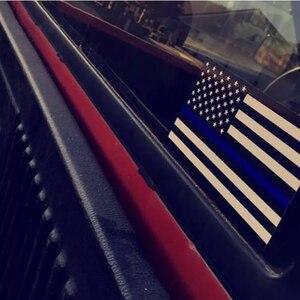 Image 4 - 11,4X6,35 cm Auto Styling Amerikanische Flagge Aufkleber Ehre Polizei Durchsetzung Fenster Auto Aufkleber (5 Pack)