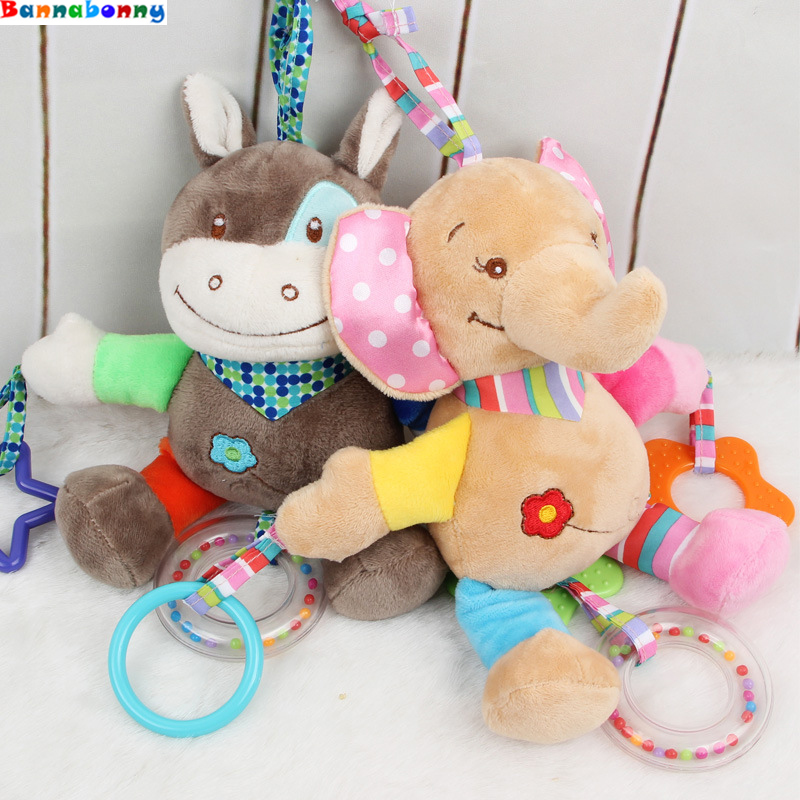 Hot Mobile Stroller Plush Playing Carriages For Dolls Toy Bed Wind Rattles Baby Crib Bed Hanging Bells Toys For Newbrons