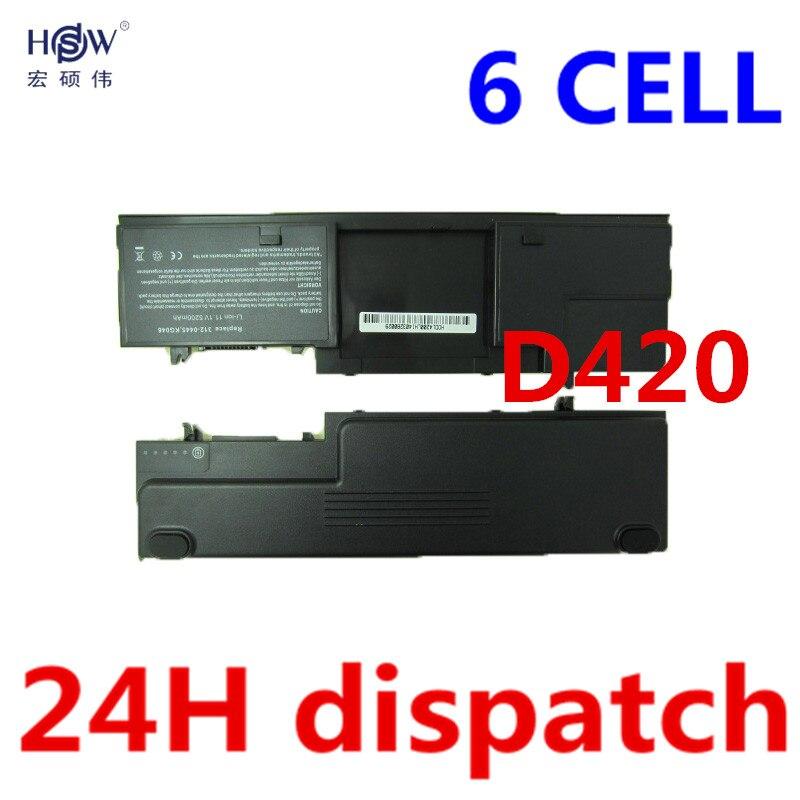HSW 5200MAH Laptop Battery For Dell Latitude D420 D430 KG126 JG917 JG768 JG181 JG176 JG168 JG166 GG386 FG442 451-10365 bateria japanese cell new original laptop battery for dell latitude d420 d430 gg386 jg768 jg176 jg168 fg442 451 10365 312 0445 42wh