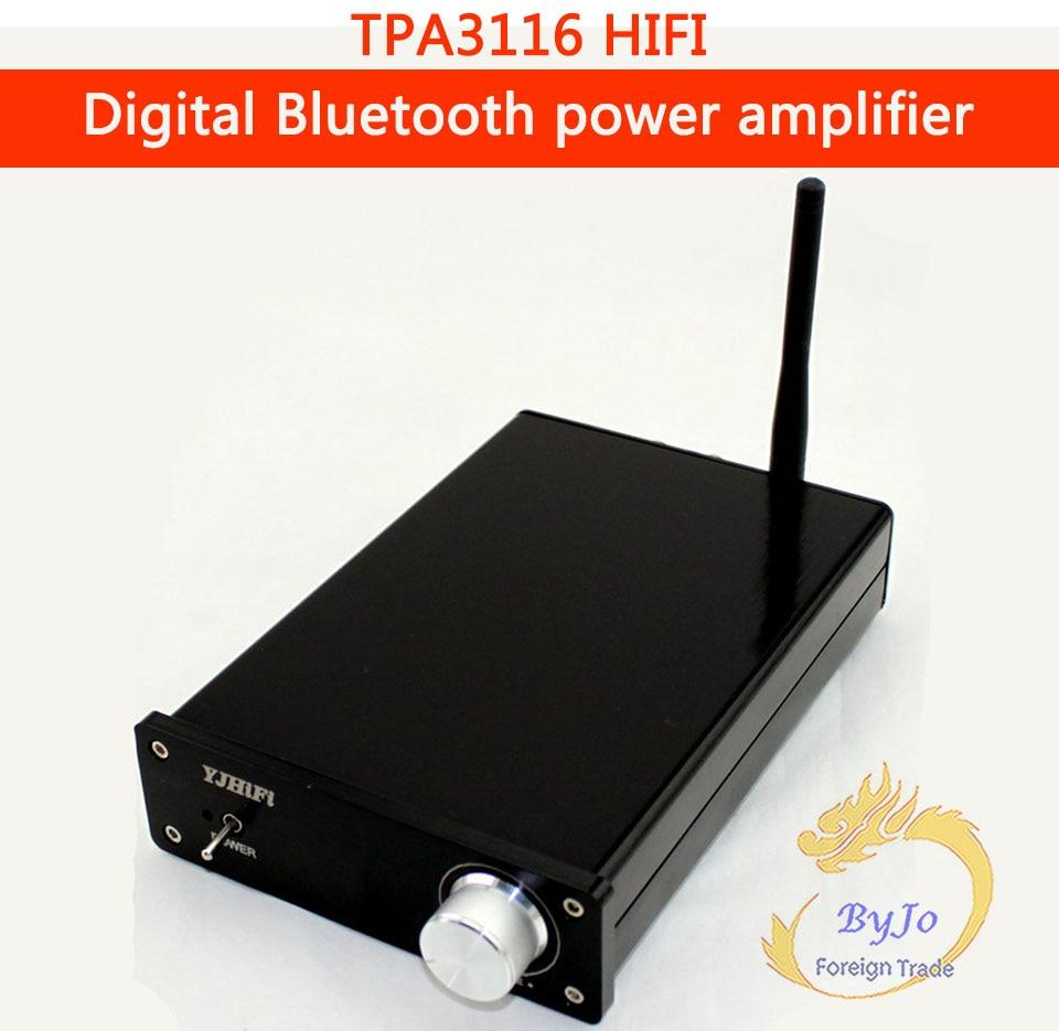 YJ HiFi 100W Audio power amplifier Mini TPA3116 Bluetooth 4 0 Digital Amplifier motorcycle player Optional