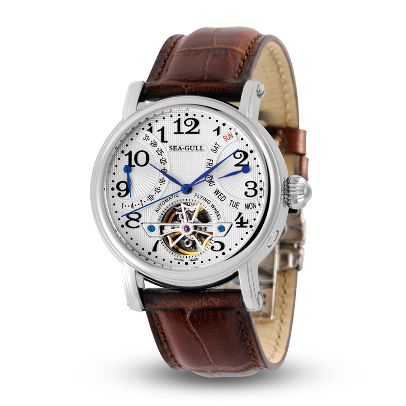 leisure automatic mechanical genuine leather waterproof watch with rome digital business for various occasions 816 241 Leisure Automatic Mechanical Genuine Leather Waterproof Watch with Rome Digital Business for Various Occasions M171S.Brown