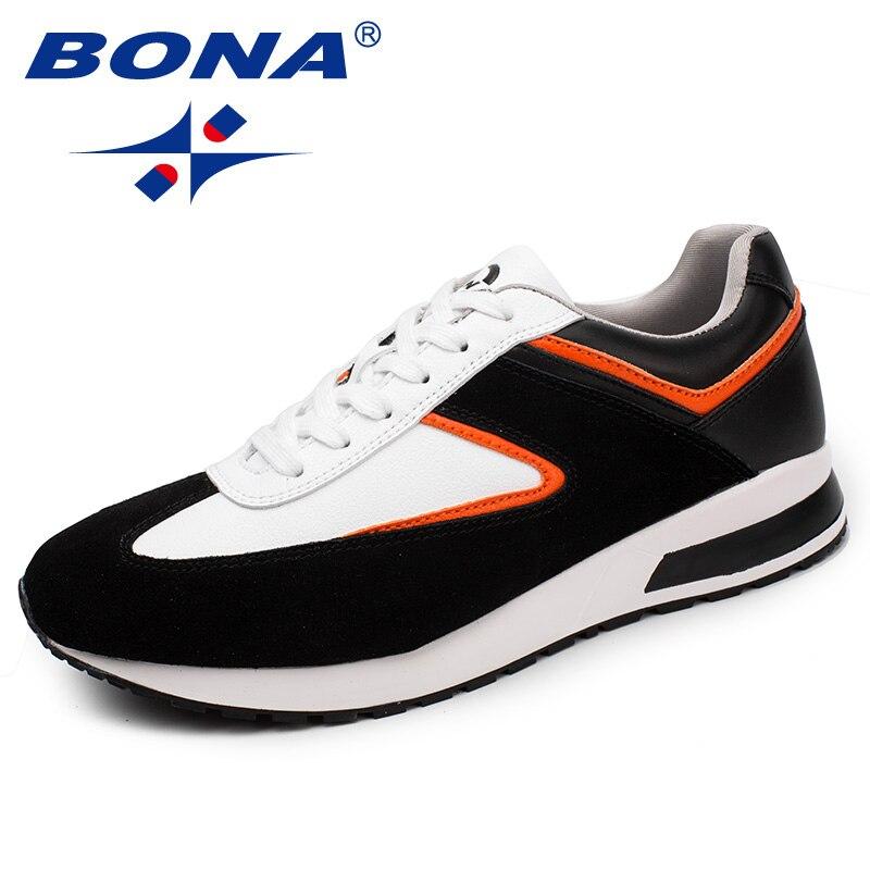BONA nouveauté classique Style hommes chaussures de marche en daim hommes chaussures de sport chaussures de Jogging à lacets chaussures de sport en plein air hommes baskets chaussures