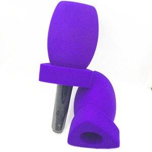 Image 3 - Linhuipd najwyższej klasy wywiad mikrofony przednia szyba z pianki ręczny przedniej szyby mic obejmuje