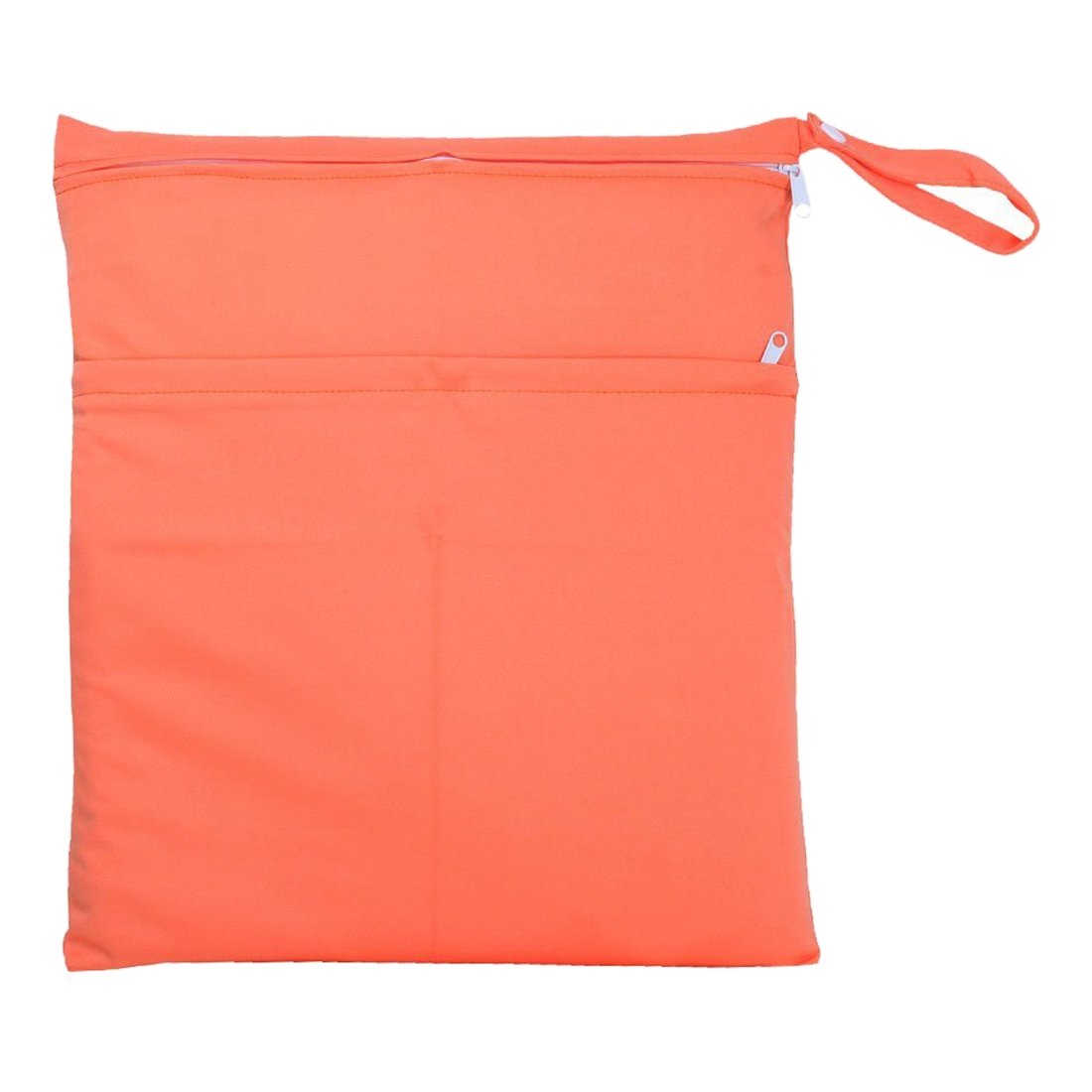 Baby Infant Waterproof Zipper Wet and Dry Diaper Bag for Baby Carriage (Orange)