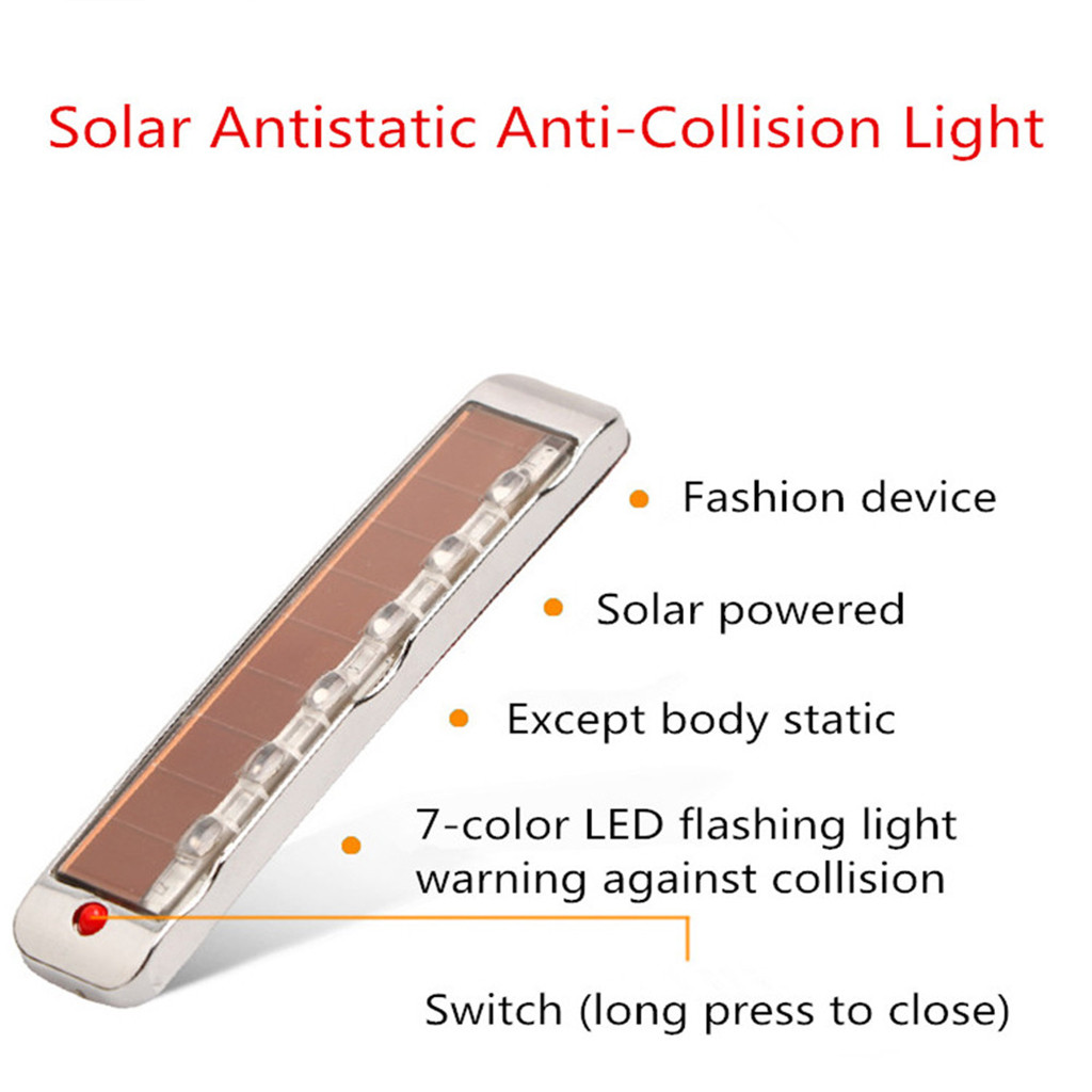 Image 2 - Car Accessories Solar Anti Static Sollision Light LED Multi Function Warning Light Luces Led Para Auto Car Accessories-in Signal Lamp from Automobiles & Motorcycles