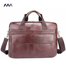 MVA Men Genuine Briefcase Leather Laptop Bag Men Messenger Bags Casual Handbag bolsa Shoulder Crossbody Bags