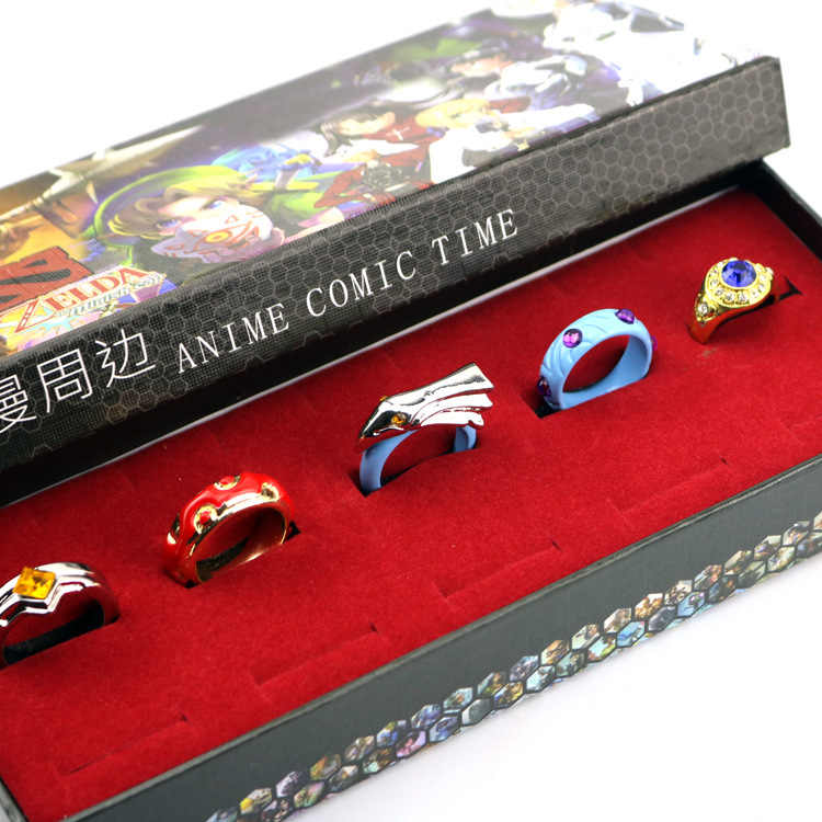 1.9cm 5pcs/lot DOTA2 ring accessories Anime cartoon Toys Dolls Action Figure xmas gift Decoration Collection