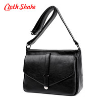 Cloth Shake New Spring Summer Hand Bag For Women PU Leather Inclined Shoulder Bags Fashion Messenger