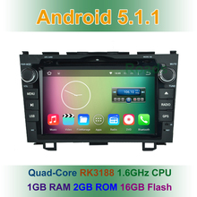1024*600 Quad Core Android 5.1.1 Car DVD Player GPS for Honda CRV CR V 2006 2007 2008 2009 2010 2011 with BT Wifi Radio