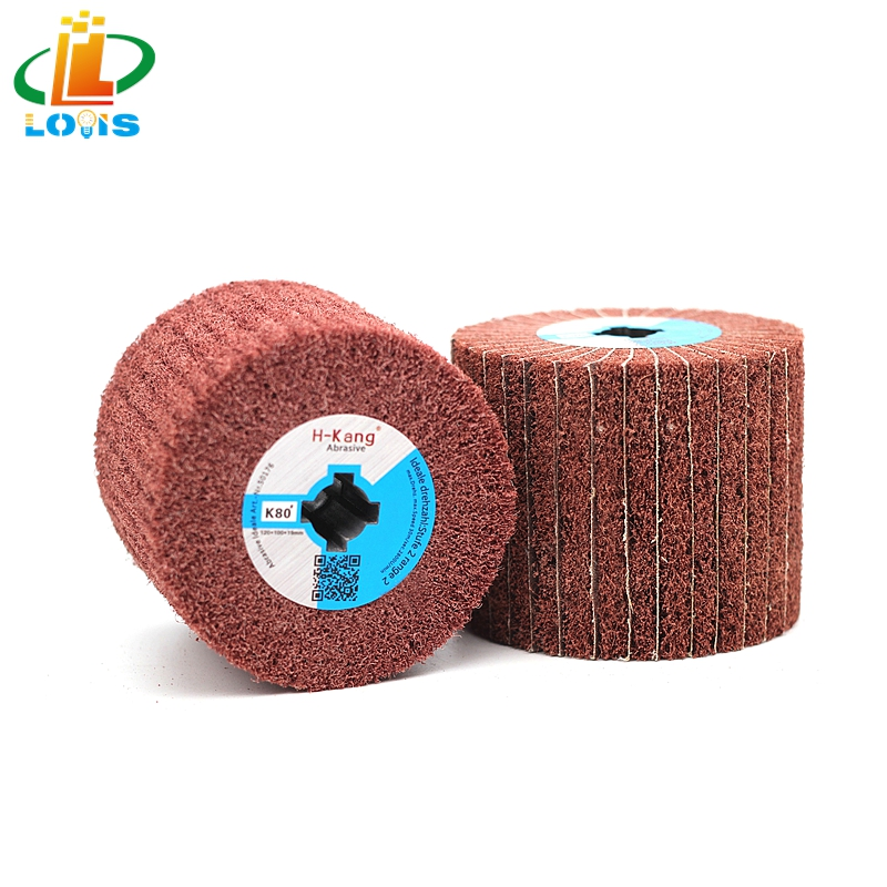 """4/"""" 5/"""" Wool Wire Drawing Drum Polishing Buffing Wheel for Metal Wood 4//5/"""" Bore"""
