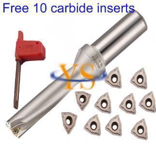 New 1pcs WC SD22-3D-C25 U Drill + 10pcs WCMX040208 ACZ330 carbide inserts indexable drill bit tool new 1pcs wc sd24 5 3d c25 u drill for wcmt050308 inserts u drilling indexable drill bit tool