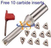 New 1pcs WC SD22 3D C25 66 U Drill Indexable Drill Bit Tool And 10pcs