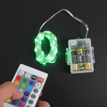 LED String Lights 5M 50LED RGB  USB powered RGB Copper Wire Christmas Festival Wedding Party Decoration 24key Remote Controller