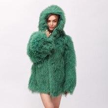 Cnegovik теплые пальто с мехом из натуральной Монголия овечьей шерстью женские пальто с капюшоном верхняя одежда из натуральной овечьей кожи пальто Монголия овец пальто с мехом