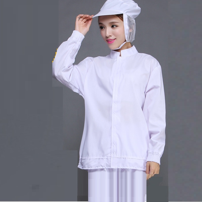 (10 Set)White Food Take Long Sleeve Clothes Suit Tooling Dustproof Health Service Men Women Food Processing Factory Work Clothes