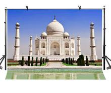 7x5ft Taj Mahal Backdrop Indian Famous Architectural Photography Background and Studio Props