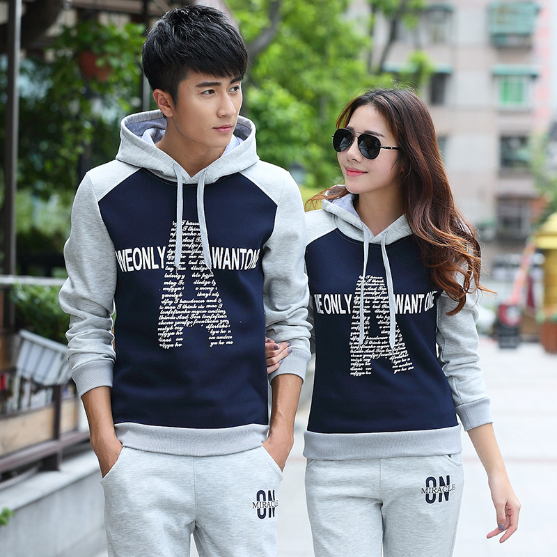ef340bf32d Teen couple sets 2015 fall hooded sweater female student autumn and winter sports  clothes coat Korean Slim-in Abrasives from Tools on Aliexpress.com ...