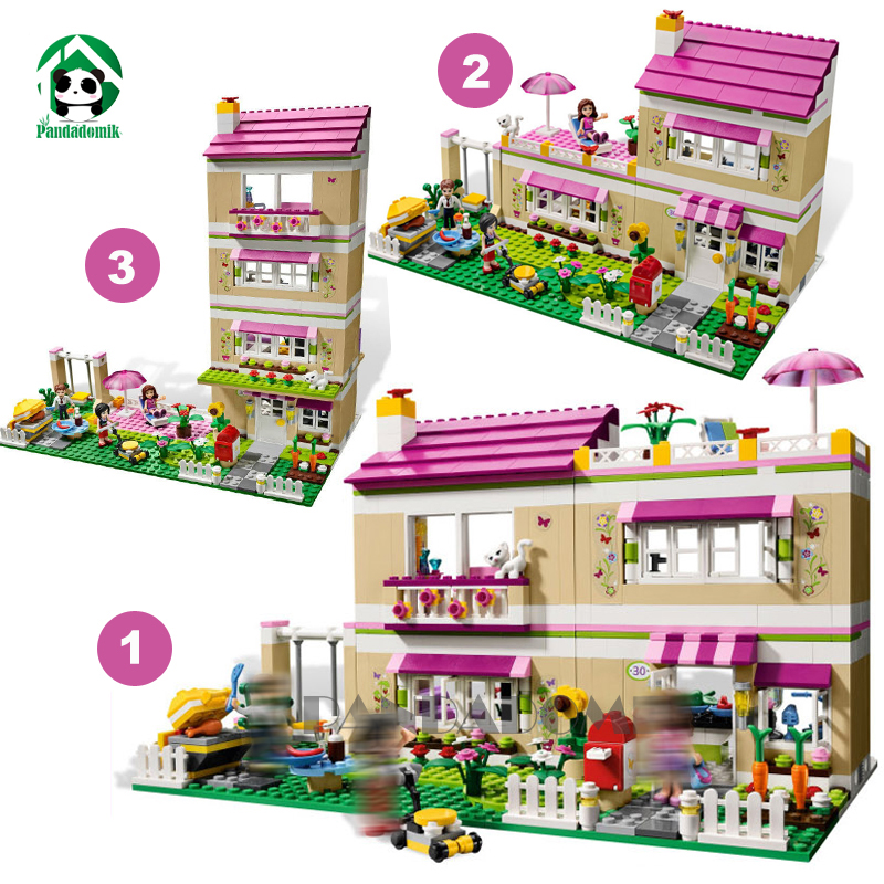 Super Large 695pcs Doll House Summer Holiday Villa Building Blocks Friends Toys for Girls Bricks Constructor Set Children's Toys diy doll house villa model include dust cover and furniture miniature 3d puzzle wooden dollhouse creative birthday gifts toys