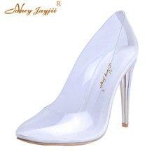 5a8b812c6d05c 4 Inch Kim Kardashian Cinderella Glass Heels Pumps Transparent Wedding  White Shoes Womens Spring Dress Marriage