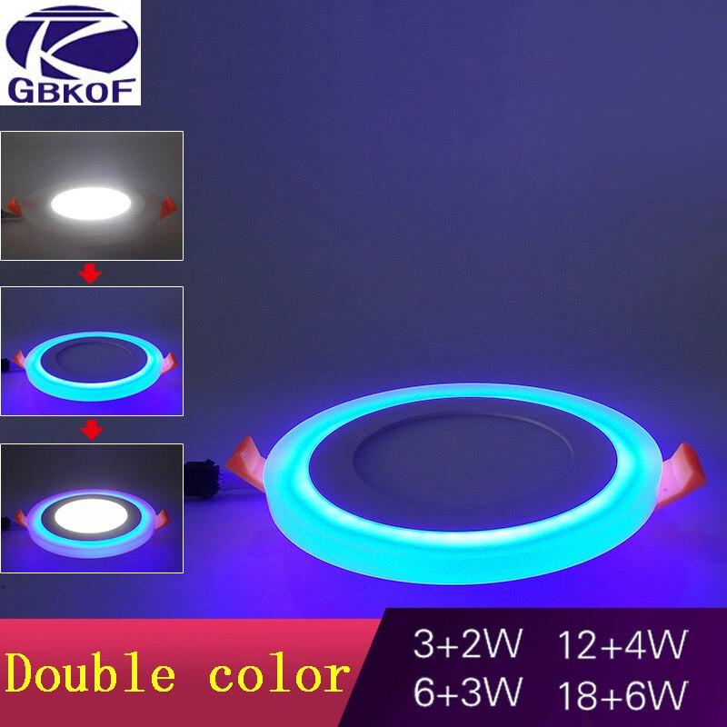 Новый Дизайн круглый светодиодный Панель светильник 6 Вт 9 Вт 16 Вт 24 Вт 3 модели Светодиодные осветительные панели AC85-265V Встраиваемые потолоч...